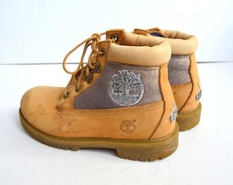 dd8c0c29a5460 Timberland bottes en cuir Suède randonnée camp en plein air à l extérieur  les enfants chaussures cuir randonnée Combat Boots Vintage Timberland bottes  ...