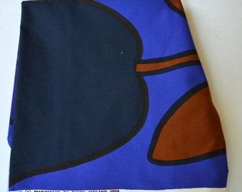 Marimekko Finland Fabric piece Katsuji Wakisana HANA 1969 Vintage Flowers  Print Finnish Textile 152 cm x 70 - 86 cm 3f0e1c897e
