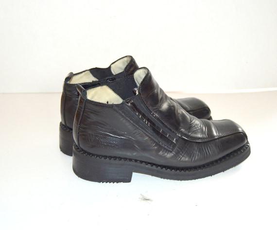 Vintage Black Leather New Rock Boots Alternative G