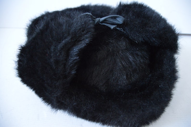 77248466168 Vintage Faux Fur Russian Style Military Bomber Hat Aviator