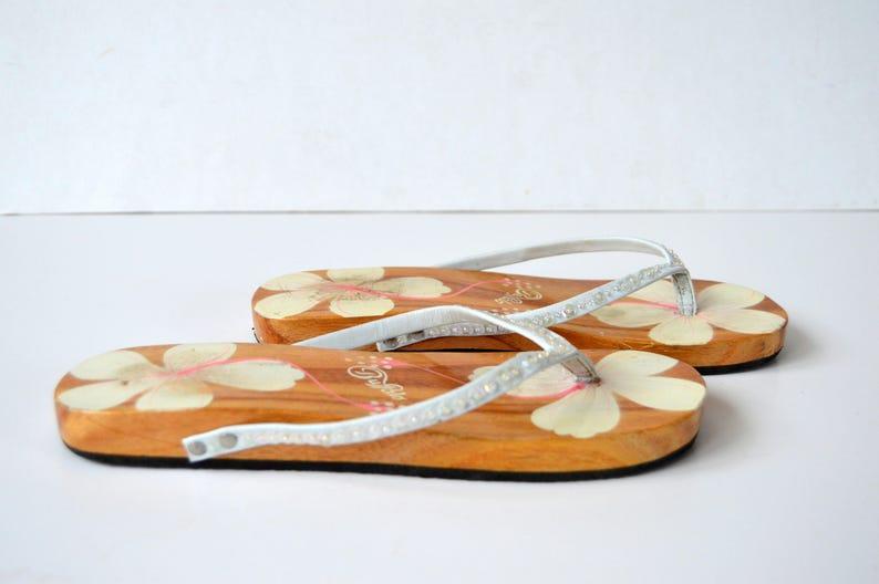 d7a6e9b1d769 Wooden Sandals Buffalo Sandals Leather wooden platform Vintage