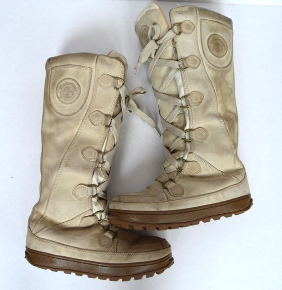 EU Goth real 39 5 leather women US boots boots 5 6 Boots 8 Vintage beige Size Boho 5 UK Hipster long Womens heavy Snow Timberland SgyFp4Wnc