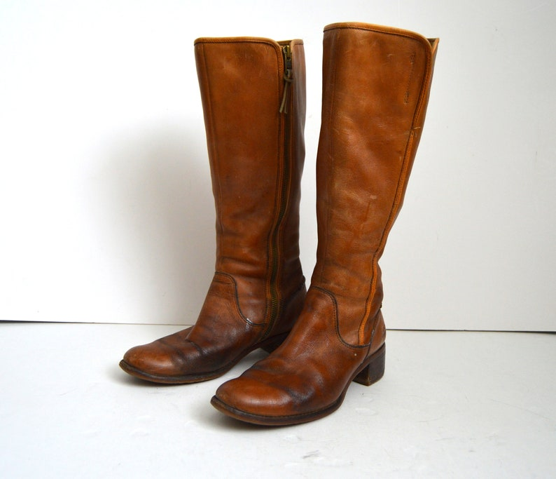 169b14d056f Vintage Timberland boots women real leather long boots 80s
