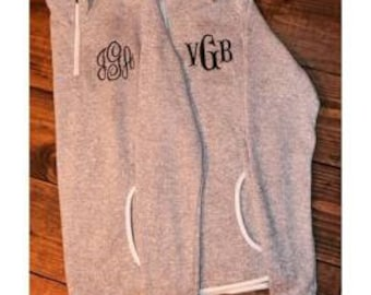 Monogrammed Charles River Heathered Fleece- Personalized Embroidery!