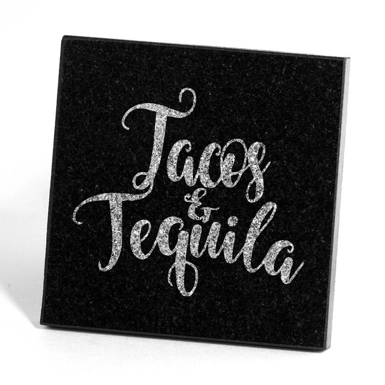 SHIPS FAST Personalized Drink Coasters Stone Coasters Glass Coasters Housewarming Gift Tacos and Tequila Boyfriend Gift Wood Coasters