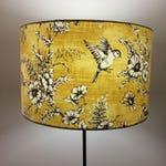 Yellow Bird Lampshade - Drum Lamp shade 20cm 25cm 30cm 40cm Vintage Birds Kitsch Republic