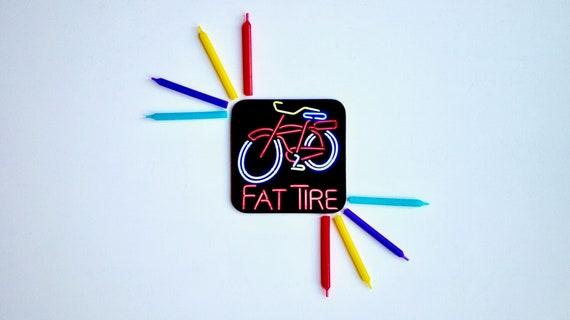 Neon Bike Bicycle Coasters Retro Vintage Bike Kitsch Republic
