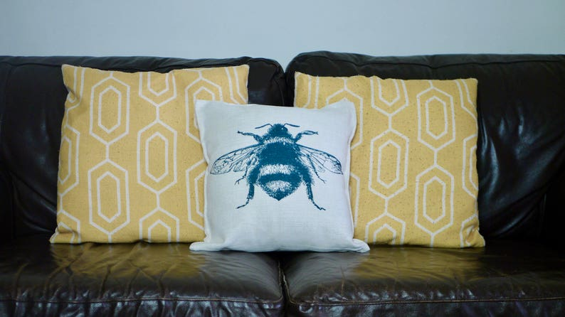 Canvas Feel Tattoo Man Cushion 40cm x 40cm Complete with Inner