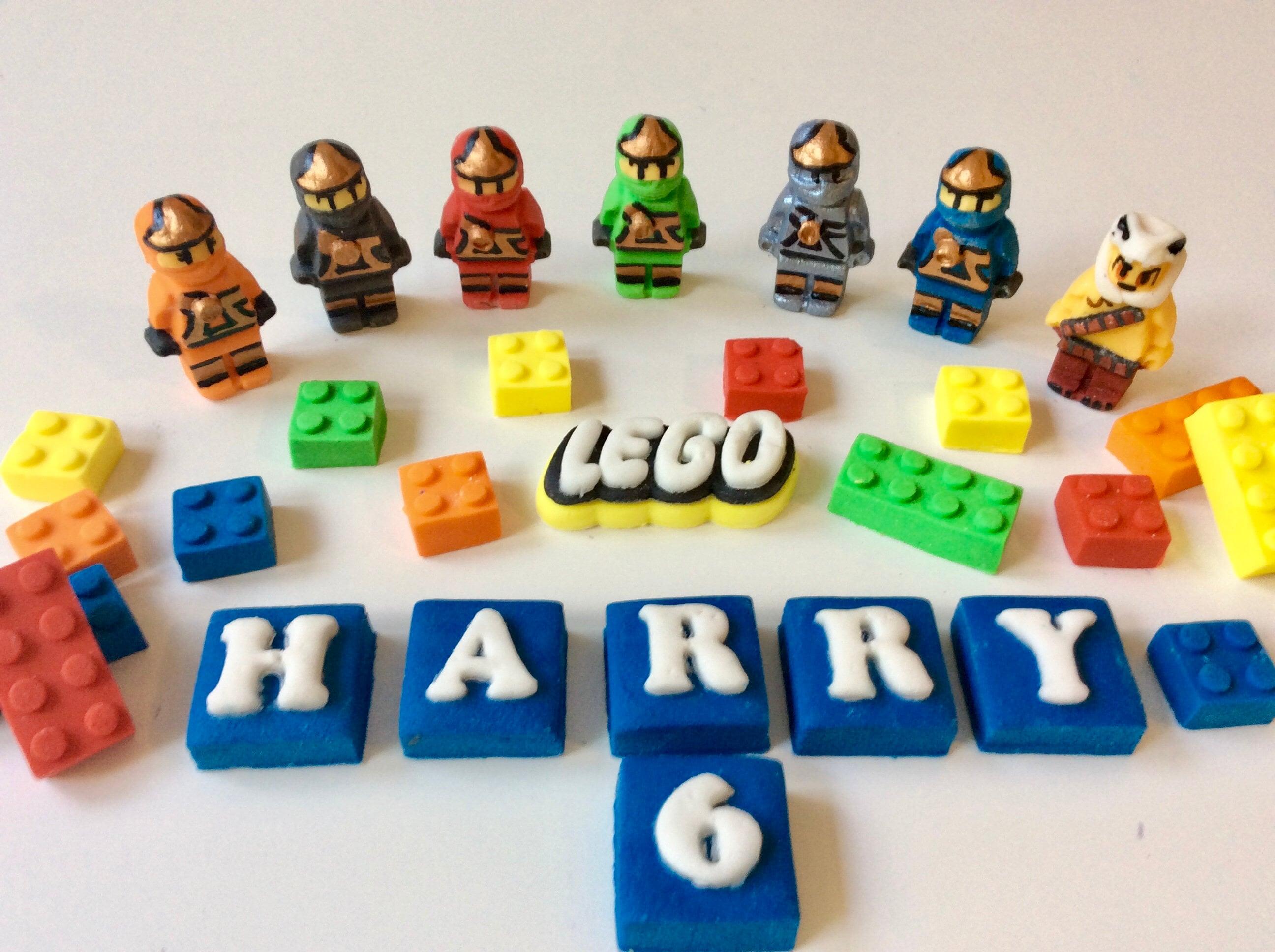 Kochen & Genießen Edible Fondant Lego Ninjago & Bricks Cake Topper Birthday  Decorations Möbel & Wohnen pogio.be