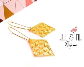 Japanese brass rings asanoha open diamond