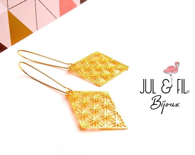 Japanese brass buckles asanoha diamond open