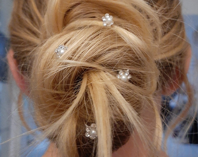 Lot of 4 pins bun, jewel hair hairstyle wedding