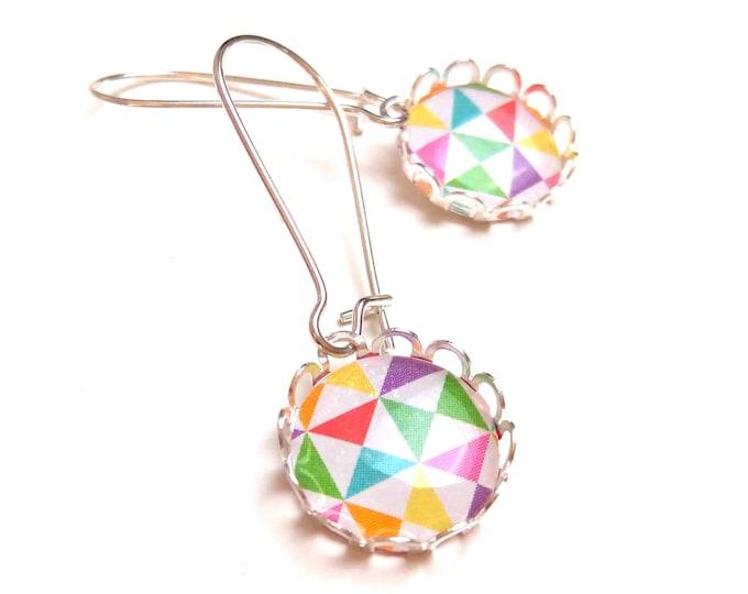 Earrings sleepers / triangle cabochon