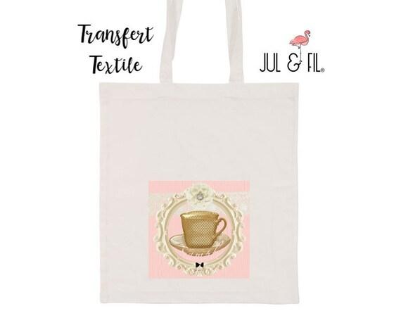 Textile transfer iron tea addict
