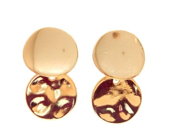 Brass lozenges earrings