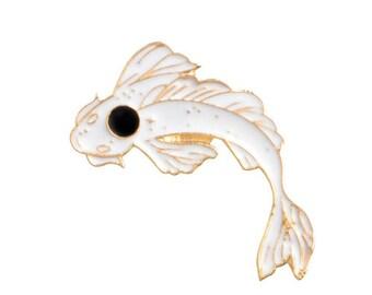 Japanese koi brooch