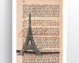 Illustration to frame the beautiful Eiffel Tower life