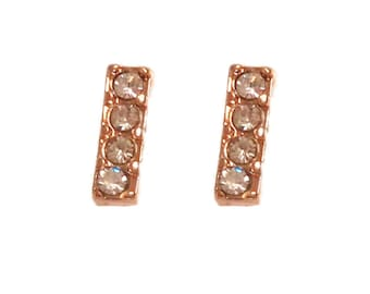Earrings flea sandstones rhinestones