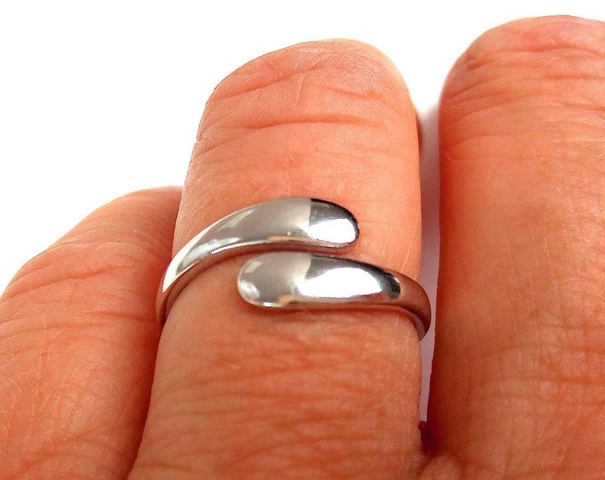 Silver adjustable ring 925