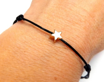 Star adjustable bracelet make a wish