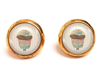 Chips cabochon cup cake pastel