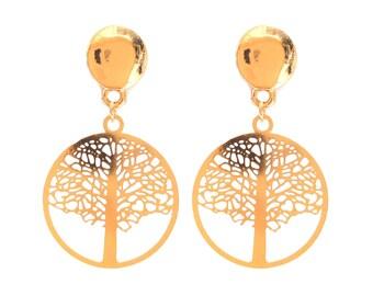 Life tree brass rings