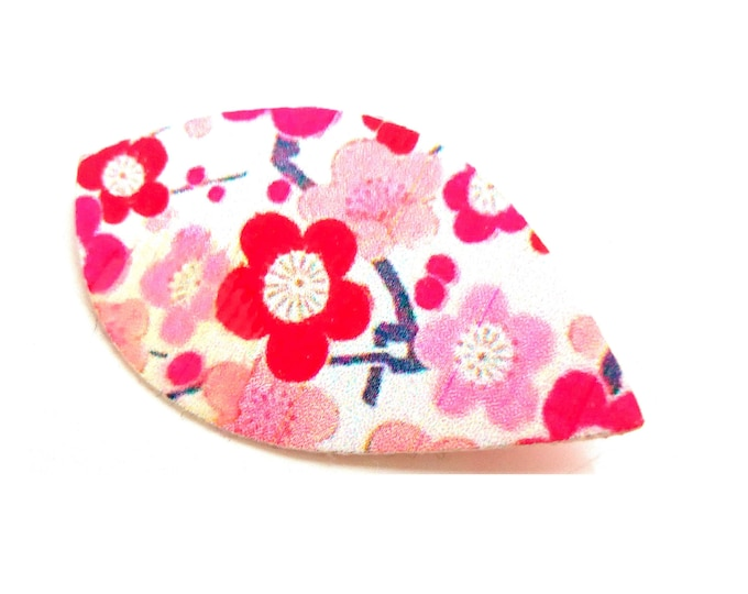 Japanese fabric flowers washi brooch