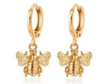 Golden Hoops or fine mini creole bees