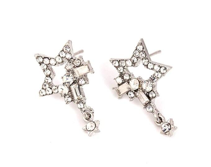 Rhinestone star rings
