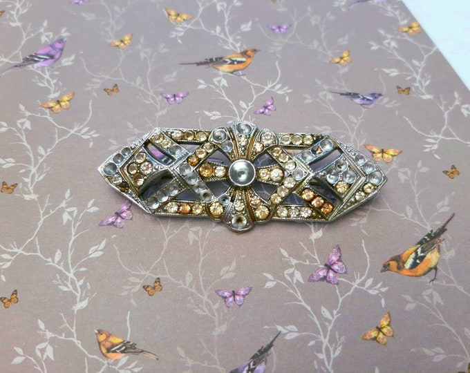 Vintage authentic art deco brooch