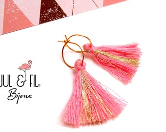 Gold plated rings 18 k rose gold plated tassels