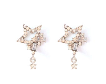 Star rhinestone earrings
