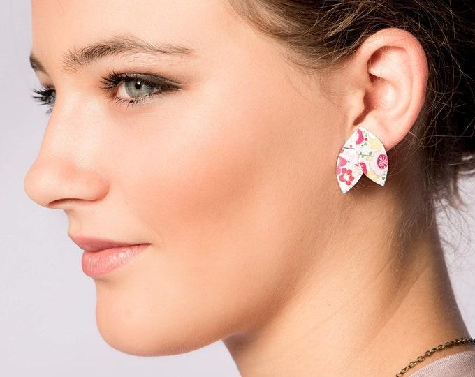 Japanese organic cotton printed earrings