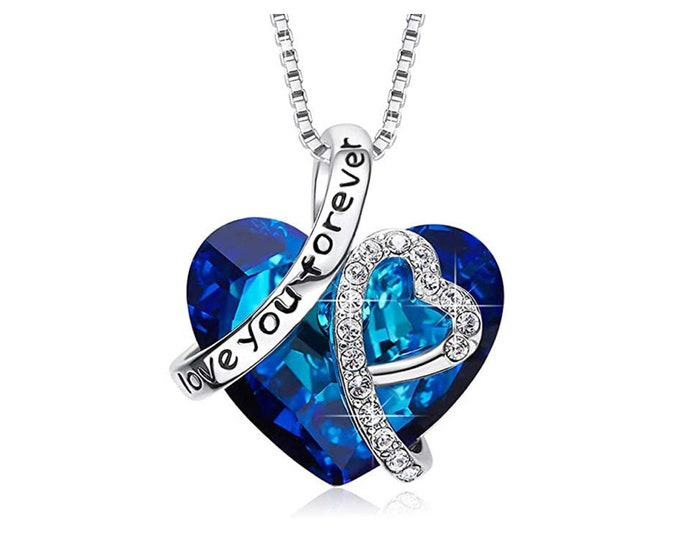 Crystal necklace I love you for ever
