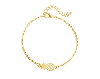 Gold-plated fine pineapple bracelet