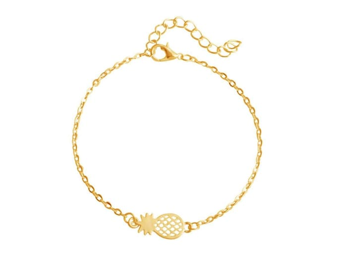 Gold-plated fine pineapple bracelet