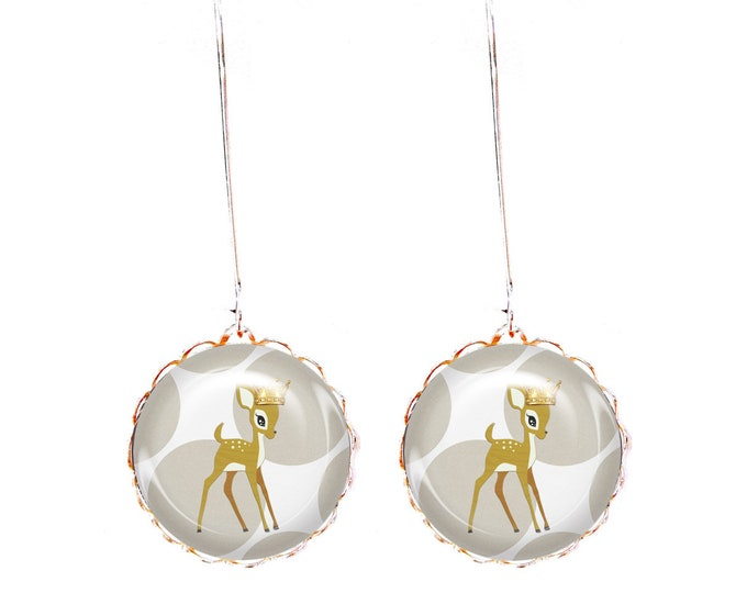 Fawn JUL and wire - JEF Crown earrings