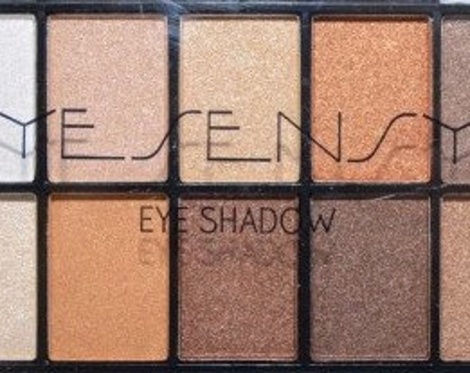 Palette 10 iridescent beige brown nude eyeshadows