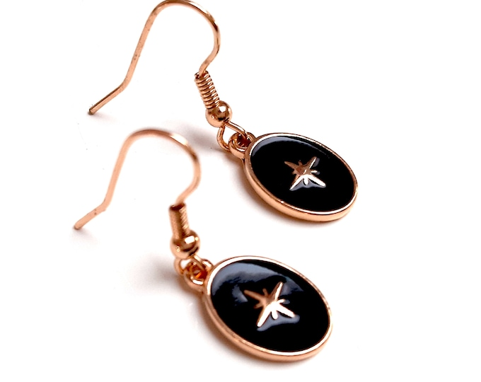 ONYX epoxy enamel earrings
