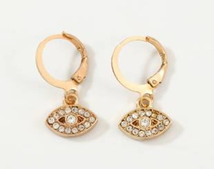 Golden gold hoops fine gold mini creoles eye protection