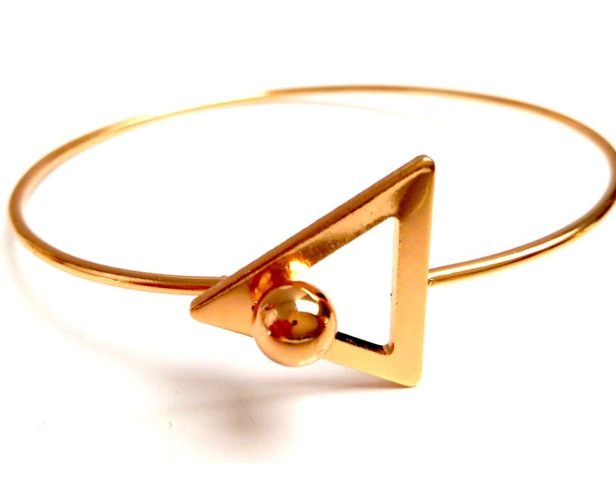 Triangle brass Bangle Bracelet