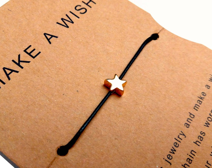 Bracelet wears adjustable happiness star make a wish teen girl