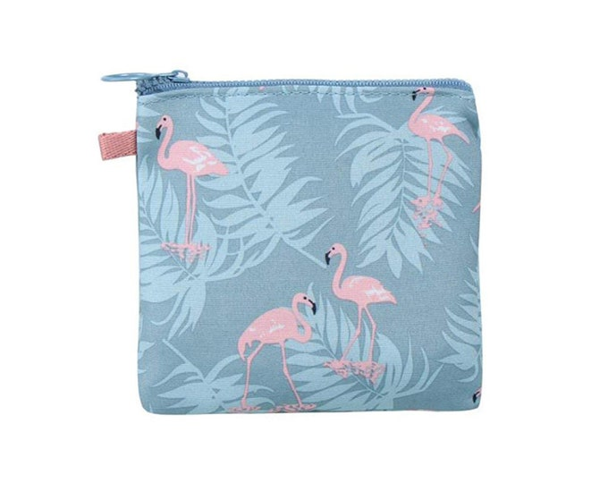 Trousse flamands roses toilette maquillage sac à main