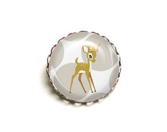 Fawn JUL and wire - JEF Crown brooch