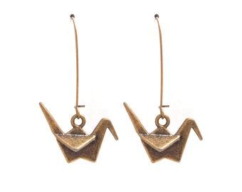 Japanese bronze brass cranes sleepers
