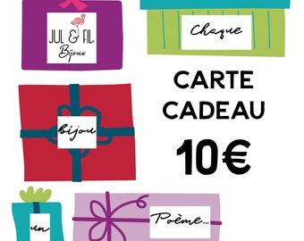 Gift card worth 10 euros