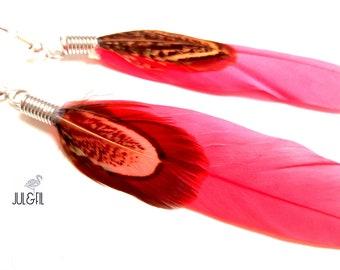 Boho feather earrings