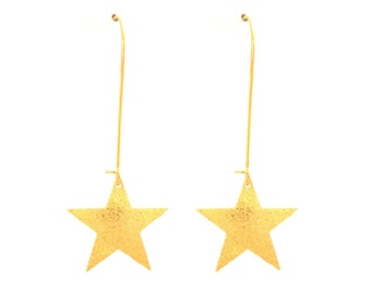 Star brass earrings