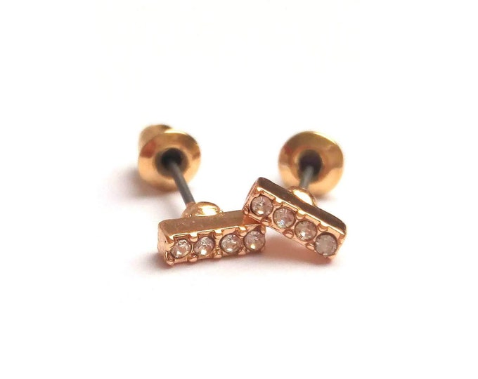 Earrings flea sandstones rhinestones