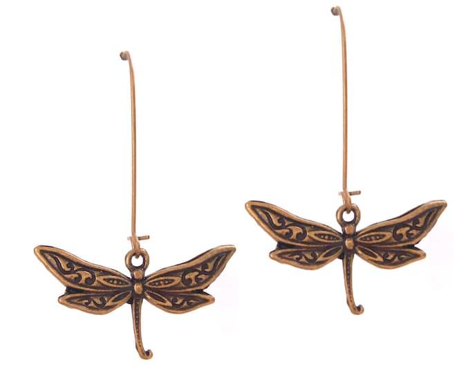 Brass dragonfly rings